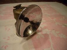 ANTIQUE COAL MINERS JUSTRIGHT BRASS CARBIDE LIGHT, MADE IN USA, NICE!