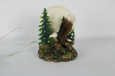 EAGLE CATCHING A FISH FIGURINE LAMP