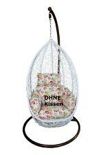 Hängesessel weiß OHNE Kissen Hanging Chair Terrasse Garten Wintergarten NEU