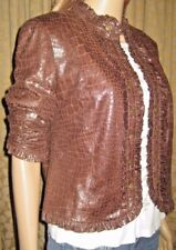 Anthracite by Muse Size 6 Brown Snakeskin Look Leopard Print Lined Jacket/Blazer