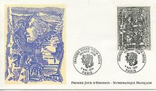FIRST DAY COVER / PREMIER JOUR FRANCE 1991 / FRANCOIS ROUAN VOLTA FACCIA TABLEAU