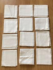 Lot 12 anciens GRANDS TORCHONS SERVIETTES lin ou coton décor frise de feuilles