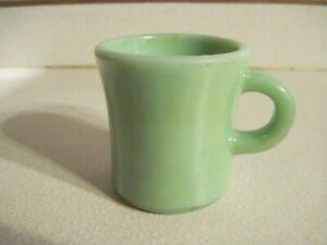 Vintage Jadeite Jadite Heavy Restaurant C Handle Coffee Mug