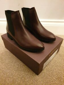 Carvela Stifle Wine Leather Ankle Boots  EU 38 UK 5