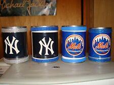 4 Ny Pen Can Holders Yankees Mets Office Supplies Desk Accessories Memorabilia