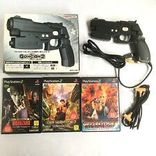 Lot 3 PS2 Guncon 2 Controller + Gun Survivor 2 3 4 Resident Evil Japan JP Game