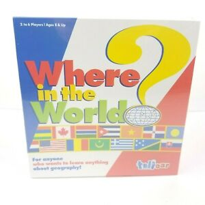 Where In The World? Geography Learning Board Game Talicor Aristoplay Homeschool