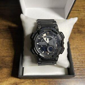 Casio Quartz Analog and Digital Black Men's Watch - AEQ110W-1AV. Pre Owned