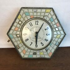 General Electric Wall Clock Model 2118 Faux Ceramic Hexagonal Shape HD1