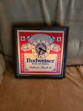 Vintage Budweiser Lighted Bar Wall Clock