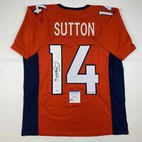 Autographed/Signed COURTLAND SUTTON Denver Orange Football Jersey PSA/DNA COA