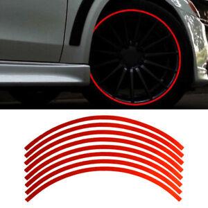 16Pcs Reflective Car Motorcycle Wheel Rim Stripe Decal Tape Sticker Accessories
