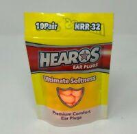 Hearos Ultimate Softness Premium Comfort Ear Plugs QTY 10 | Model 92348-10P