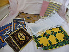 Vintage  lot of  misc.  dollhouse  fabric    materials    rugs    bedspread.....
