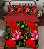 3D Flowers Doodle 788 Bed Pillowcases Quilt Duvet Cover Set Single Queen King CA
