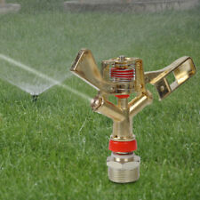 "3/4"" Arroseur Eau 2 buse Pelouse Jardin irrigation 360° Rotatif Water Sprinkler"