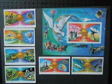 G564 GUINEA BISSAU 1974  SPACE/UPU SET + S/S  MNH