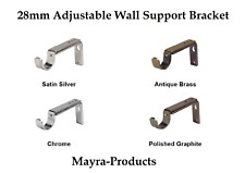 Adjustable Wall Support Bracket for 28mm Curtain Pole.