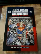 Superman Vs Terminator: Death to the Future TPB DC Dark Horse comics 2001 NM 9.4