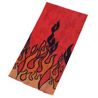 Rosso Flame Ciclismo Bicicletta di guida Multi sciarpa testa fascia Veil Co S4A9