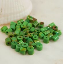 Kingman USA Natural Turquoise Mohave Arizona USA Heishi 4 MM (50  Beads)