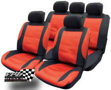 Seat covers Red and Black full set Universal Fit Protectors ideal for ford