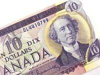 1971 Canada 10 Ten Dollar Uncirculated DL Prefix Bouey Rasminsky Banknote R226