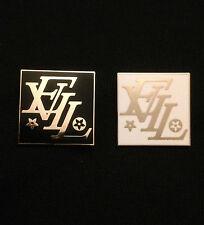 EVIL gold pin satan devil LV 666 designer badge medal button patch black white