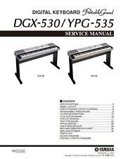 Yamaha DGX-530 YPG-535 Keyboard Service Manual and Repair Guide