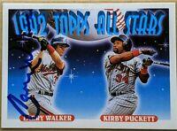 LARRY WALKER 1993 Topps signed card MONTREAL EXPOS ROCKIES CARDINALS HOF NM