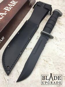 Ka-bar D2 Extreme Tool Steel Kraton G Thermoplastic Fixed Knife w/Sheath 1283