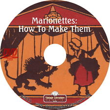 How To Make Marionettes { Puppet & Puppetry Books ~ Plans ~ Plays } on DVD