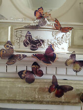 Butterfly Decoration 10 Natural Butterflies Picture Frame Wall Wedding Hand Made