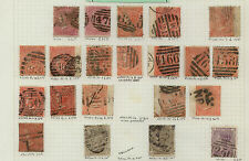 Great Britain nice lot of early stamps with better plate numbers Mm0202