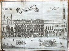 VALENCIENNES TOWN HALL,NORD PAS DE CALAIS, Francois Foppen Antique Print 1720
