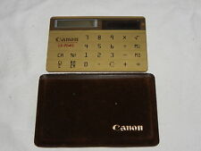 Canon ls-704g Calculator solaire Calculatrice top rare (225)