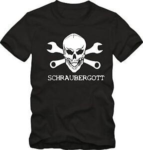 Schrauber T-SHirt  SchrauberGott  Mechaniker KfZ  T- Shirt  bis 5 XL Funshirt
