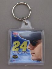 JEFF GORDON #24 SQUARE KEYCHAIN TWO-SIDED NEW RACING REFLECTIONS