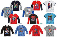 New Boys Official Nintendo SUPER MARIO Top T- Shirt  Age 3 4 5 6 7 8 9 10 Years