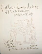 Picasso Original Poster Galeriie Leiris Mourlot 1960
