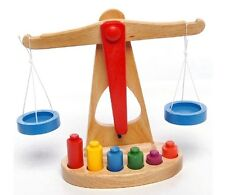 Montessori educational wooden toy scale funny balance baby early evelopment 1pc