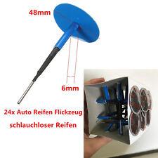 24x 48mm KFZ schlauchloserReifen Flickzeug pilzförmig Flicken mit 6mm Nagel Neu