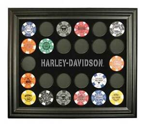 Harley-Davidson Poker Chip Collectors Frame. 6927