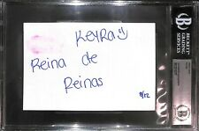 Keyra Signed w/ Lip Print Kiss 4x6 Index Card BAS Beckett COA AAA Lucha Libre #d