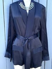Witchery Limited Edition Belted Navy Cigar Jacket - Size AU 12