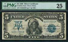 1899 $5 Silver Certificate - Indian Chief - FR-280m (mule)- Graded PMG 25