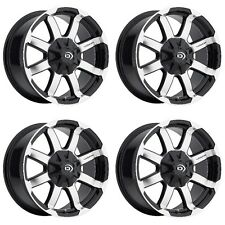 "Set 4 16"" Vision 413 Valor Black Machined Wheels 16x8 8x170mm 0mm 413-6870GBMF0"