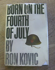 SIGNED - BORN ON THE FOURTH OF JULY by Ron Kovic - 1st HCDJ - 1976 film movie
