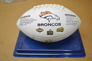 Denver Broncos Super Bowl 50 Champions Football with Acrylic Case
