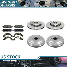 Brake Rotors & Metallic Pads + Brake Drums & Shoes For 2004 Chevrolet Aveo